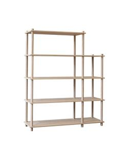 Woud Elevate shelving system 4 (Oak)