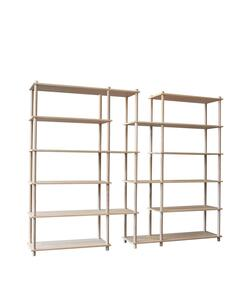 Woud Elevate shelving system 12 (Oak)