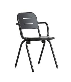 Woud RAY café armchair, charcoal black