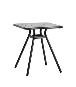 Woud RAY square café table, charcoal black