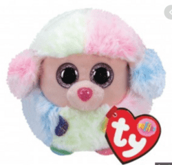 TY Puffies RAINBOW - poodle puf