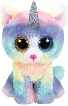 TY Heather The Unicorn Cat 15,5cm