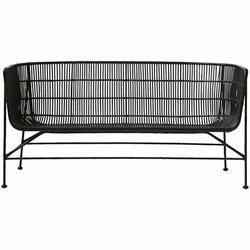 House Doctor Coon sofa, sort rattan
