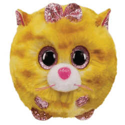 TY Puffies Tabitha - yellow cat puf