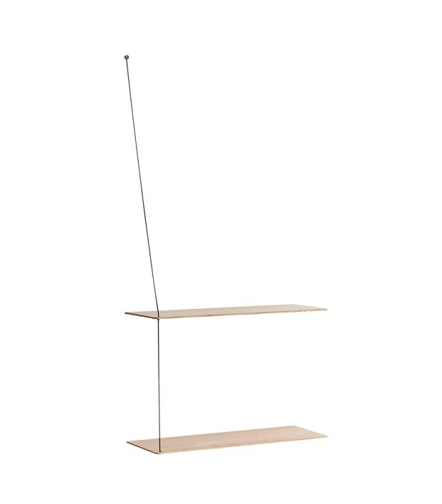 Woud Stedge shelf (60 cm),white pigmented lacquered oak