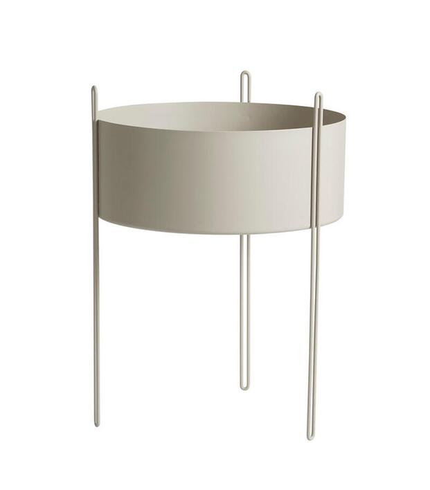 Woud Pidestall planter (Large), grey