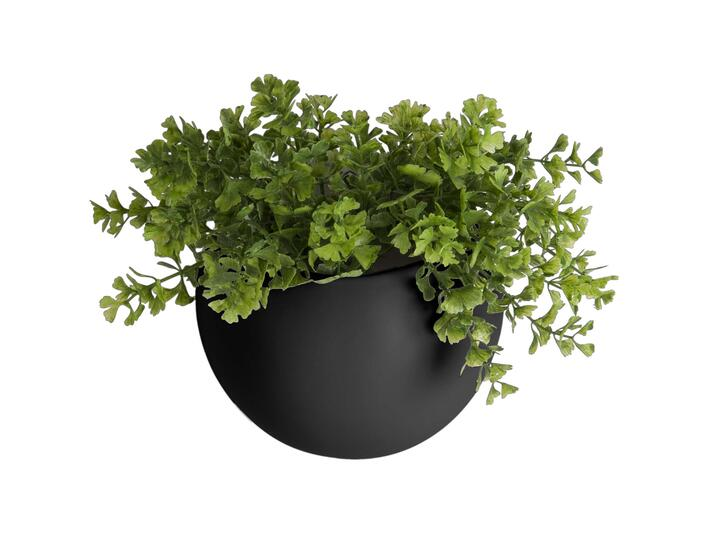 Wall plant pot globe black, keramisk