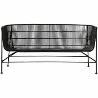 House Doctor Cuun sofa, sort eller brun rattan