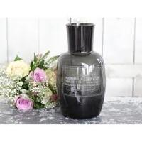Chic Antique vase med print